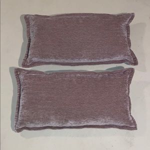 Set of 2 Chenille Pillows